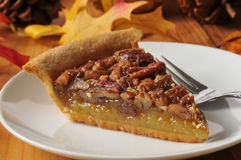 Delicious pecan pie Royalty Free Stock Images