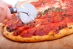 Delicious pepperoni pizza Royalty Free Stock Image
