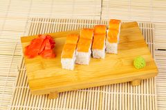 Delicious Philadelphia sushi Stock Photography