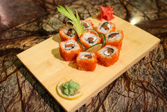 Delicious Philly maki sushi rolls Royalty Free Stock Photography