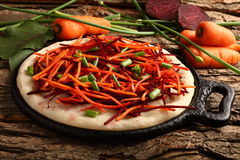 Delicious pie of fresh vegetables and herbs Royalty Free Stock Photography
