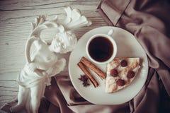 Delicious pie with raspberries Stock Image