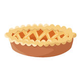 Delicious pie thanksgiving icon Stock Image