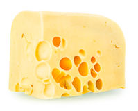A delicious piece of cheese Stock Photography