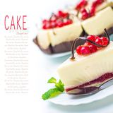 Delicious piece of cheesecake Royalty Free Stock Photography