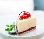 Delicious piece of cheesecake Royalty Free Stock Photo
