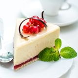 Delicious piece of cheesecake Royalty Free Stock Image