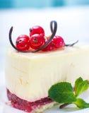 Delicious piece of cheesecake Stock Photo