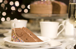 Delicious piece of chocolate cake Stock Photography
