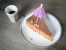 Delicious piece of a hazelnut chocklate cake Stock Photo