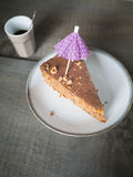 Delicious piece of a hazelnut chocklate cake Royalty Free Stock Image
