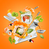 Delicious pieces of sushi Royalty Free Stock Images