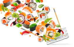 Delicious pieces of sushi Stock Images