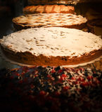 Delicious pies in an Italian pastry Royalty Free Stock Photography
