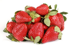 Delicious pile of strawberries Royalty Free Stock Photo