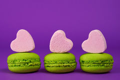 Delicious pistachio macaroons Royalty Free Stock Images