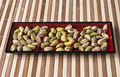Delicious pistachio nuts kernels Royalty Free Stock Images