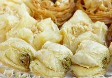 Delicious pistachios baklava Stock Images