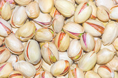 Delicious pistachios. The many pistachios delicious and appetizing Royalty Free Stock Images