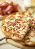 Delicious pizza. A slice of delicious pizza royalty free stock photo