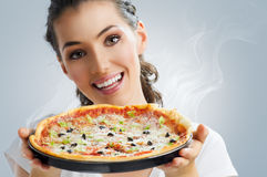 Delicious pizza Stock Image