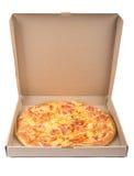 Delicious pizza in box Stock Photo