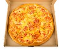 Delicious pizza in box Stock Photos