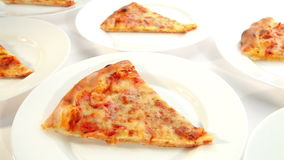 Delicious pizza Margherita stock footage