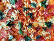 Delicious Pizza Margherita Royalty Free Stock Images