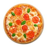 Delicious pizza with mozarella and tomatoes - Margherita Royalty Free Stock Photo
