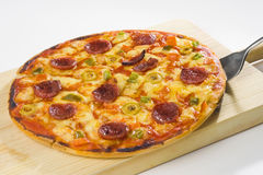 Delicious pizza with natural ingredients Royalty Free Stock Photo