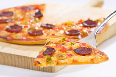Delicious pizza with natural ingredients Stock Image