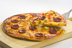 Delicious pizza with natural ingredients Stock Images