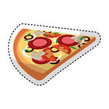 Delicious pizza portion icon. Vector illustration design Stock Photography