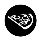 Delicious pizza portion icon. Vector illustration design Royalty Free Stock Image