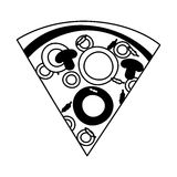 Delicious pizza portion icon. Vector illustration design Royalty Free Stock Photography