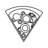 Delicious pizza portion icon. Vector illustration design Royalty Free Stock Images