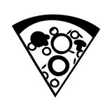Delicious pizza portion icon. Vector illustration design Stock Image