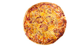 Delicious pizza with salami Stock Photo
