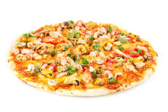 Delicious pizza with seafood Royalty Free Stock Photo