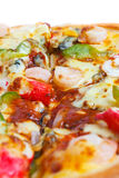 Delicious pizza with seafood. Royalty Free Stock Image