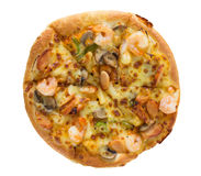 Delicious pizza with seafood Royalty Free Stock Image