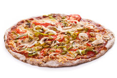 Delicious pizza on the table Stock Photos