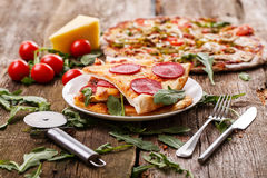 Delicious pizza on the table Stock Photography