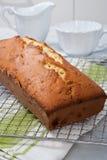 Delicious plum cake, homemade sweet royalty free stock photos
