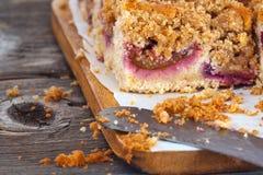 Delicious plum Crumble cake Stock Image