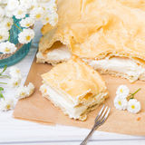 Delicious Polish cake with creme, called Karpatka Royalty Free Stock Photo