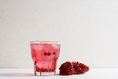 Delicious pomegranate cocktail Stock Photos