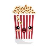 Delicious pop corn icon. Vector illustration design Stock Images