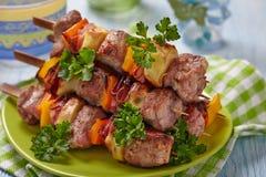 Delicious pork kebab Royalty Free Stock Image